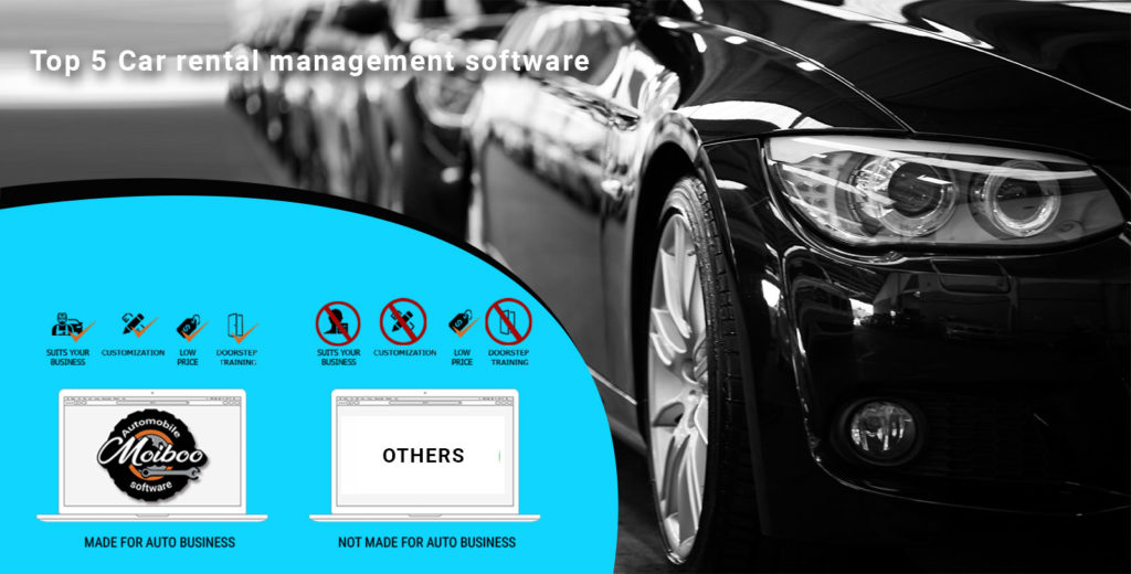 Comparison of Top 5 Car rental management software