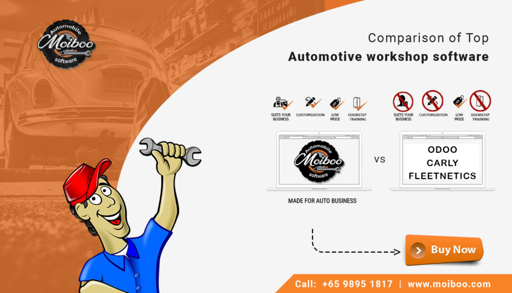 Comparison of Top Automotive workshop software in Singapore