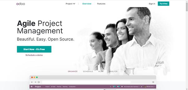 Odoo Contractor business software
